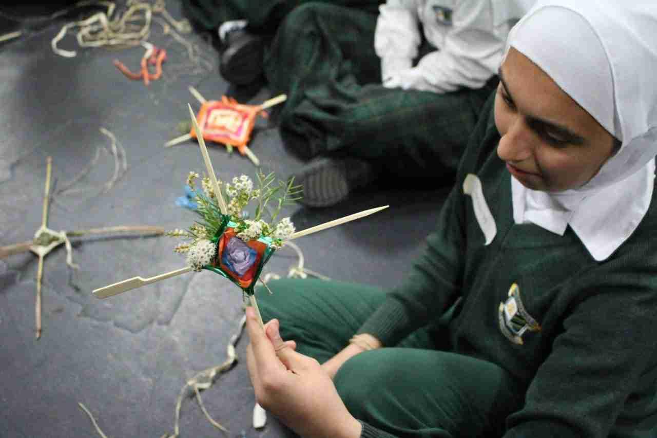 Students making art for St George Metre Squared community art festival